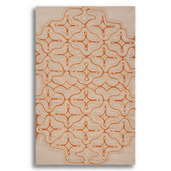 Labrinth Khaki & Pecan Rug - 5 x 8 ft. at the Foundary