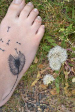 possible placement ...dandelion and fairy foot tattoos - Google Search