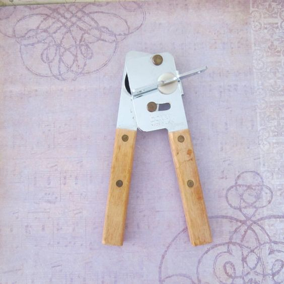 Vintage Bonny Manual Can Opener Wooden by GoldenHopeVintage