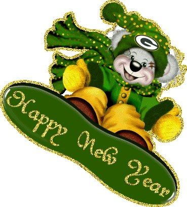 Happy New Year- Packer Style - Wow -  Winnie the Pooh is a Packer Fan - Love it...: