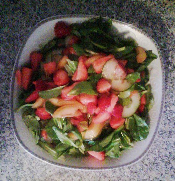 Erdbeeren auf pikante Art