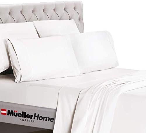 Mueller Ultratemp Bed Sheets Set Super Soft 1800 Thread Count Egyptian 18 24 Inch Deep Pocket Sheets Transfers Heat Bed Sheet Sets Sheets Deep Pocket Sheets 18 inch deep pocket queen sheets