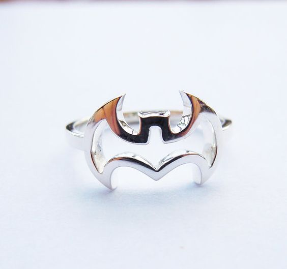 BatMan Ring in Solid Sterling Silver All Sizes on Etsy, $19.97