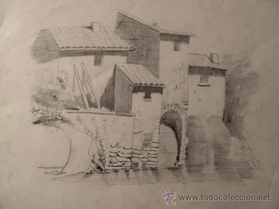 Dibujo Original A Lapiz Tema Rural Fechado En 1876 Paisaje Rural Paisaje A Lapiz Paisajes