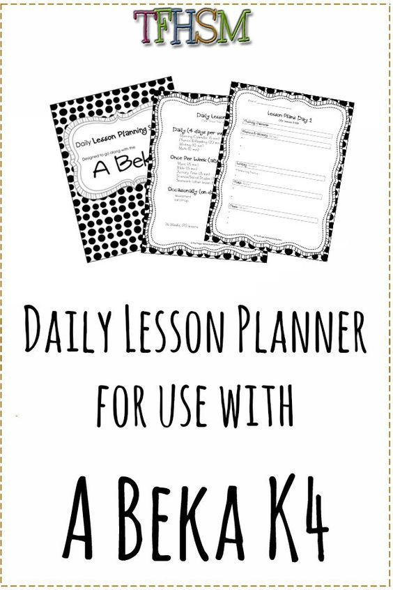 A Beka Lesson Planning Sheets Schedule and Planner p