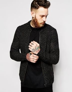 Enlarge ASOS Knitted Bomber Jacket