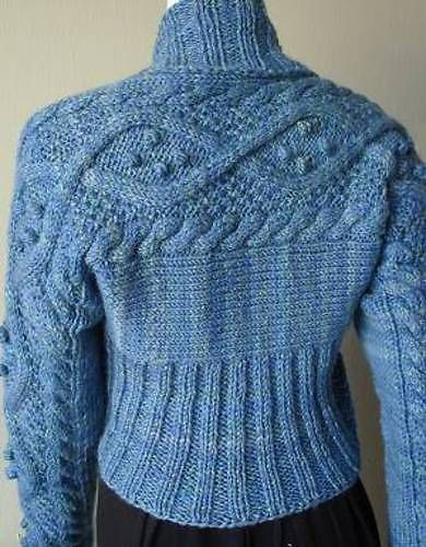 Aran Cable Shrug FREE PATTERN  >2750 FREE patterns to knit  GO TO: http://...