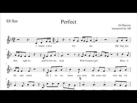 Perfect Ed Sheeran Alto Sax Cover Sheet Music Pdf Lyrics