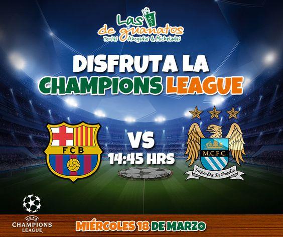 ¡Vive toda la pasión de la Champions en nuestras pantallas!   #DeportesGuanatos #Fútbol #Champions #Barcelona #ManchesterCity #League #LasDeGuanatos #Playa #Cancún