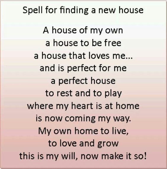 Spell For Finding A New House Spelling Magick Wiccan Spells