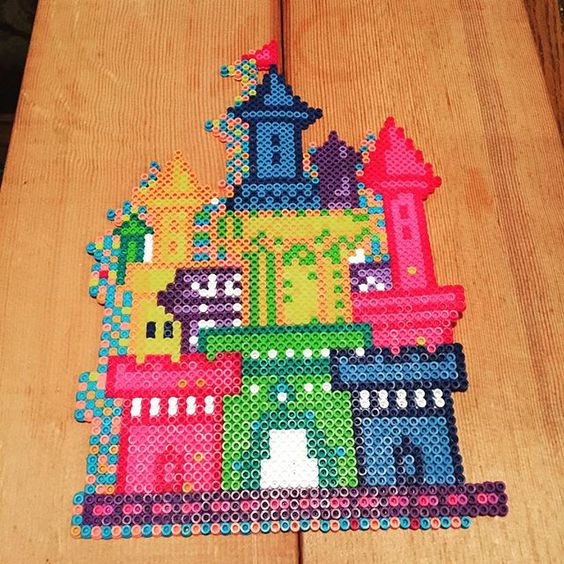 how to make a castle with beads