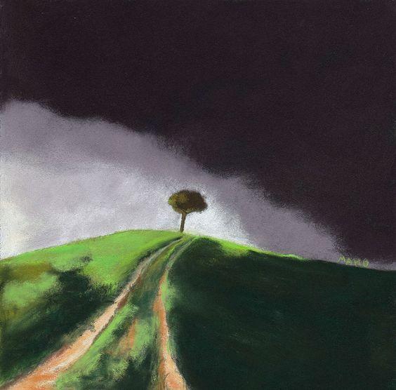 MAHO: Artiste peintre et Mail-artiste: Pastels secs