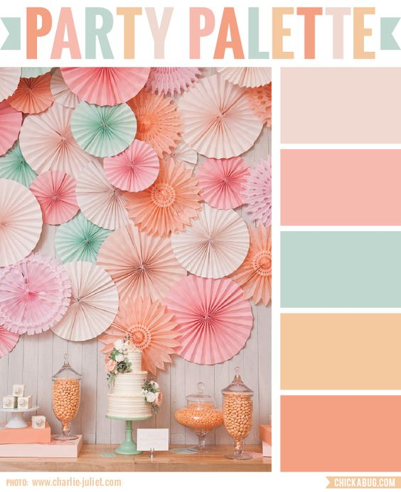 Color Palette: Peach brunch... Just what I was looking for!!! Love it for Kinlees room!!!!