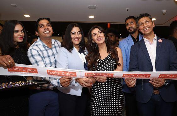 Actress Nikki Galrani Inuagurate Health & Glow Store In Express Avenue