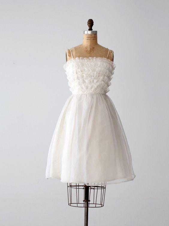 Vintage 60s Saks Fifth Avenue Wedding Dress
