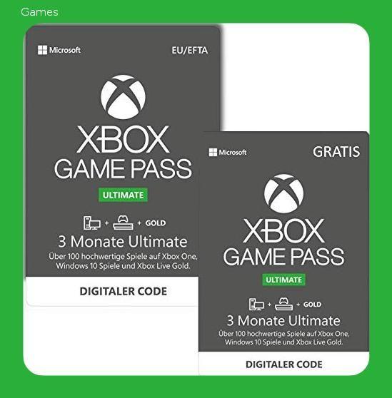 Xbox Game Pass Ultimate 3 Monate 3 Monate Gratis Xbox One Windows 10 Pc Download Code 1494