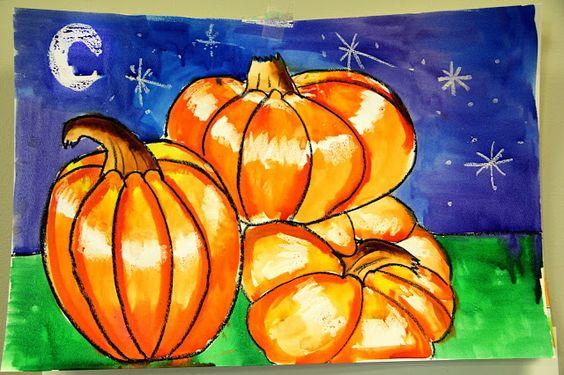 smART Class: pumpkin pile