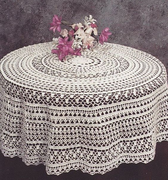 Round Tablecloth Crochet Pattern - PDF Instant Download ...
