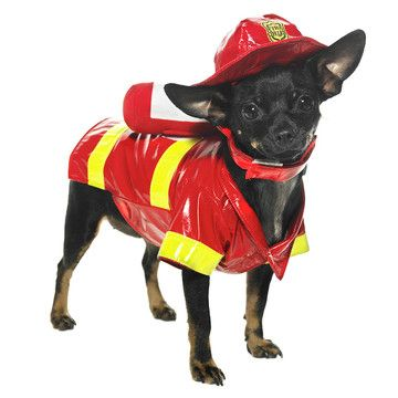Fire Fighter Dog Costume.