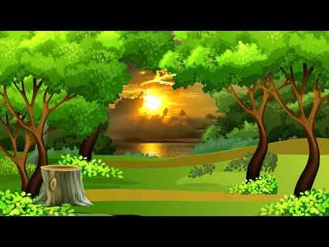 Beautiful 3D Animation with Nature Tree Scenery, 3D
