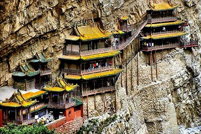 Hanging Temple in Mount Hengshan, China