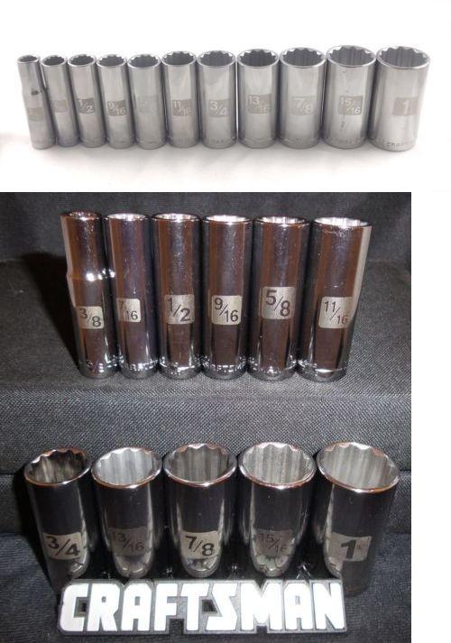 Details About Craftsman 11pc 3 8 Sae Deep 12pt Laser Etched Sockets Set Tools Inch Drive Std Socket Set Socket Wrenches Craftsman