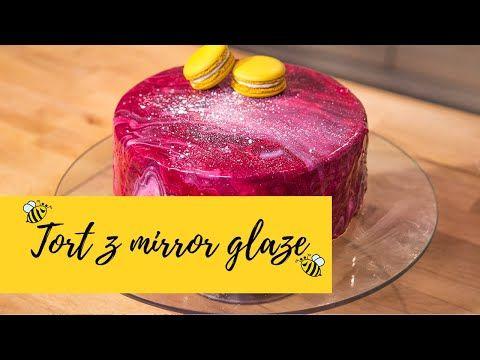Tort Z Lustrzana Polewa Z Musem Jagodowym I Pistacjami Mirror Glaze Slodka Kuchnia Pszczolek Youtube Desserts Food Mirror Glaze