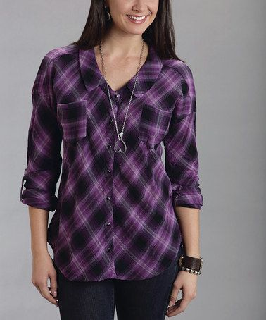 Purple Button Up Shirt Womens Custom Shirt