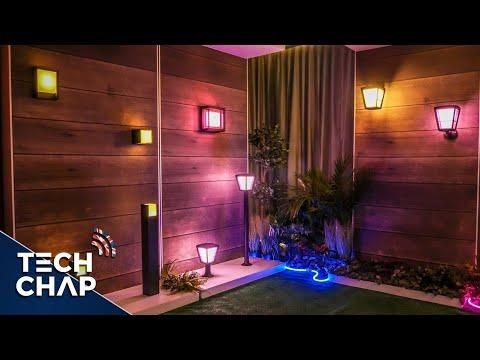 Philips Hue S Crazy New Lights Look Awesome Signe Play Outdoor Lightstrip The Tech Chap Youtube Hue Philips Outdoor Pool Patio Furniture
