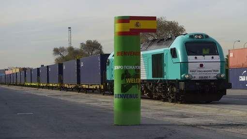 Première liaison ferroviaire entre l'Espagne et la Chine - décembre 2014 - 7SUR7.be