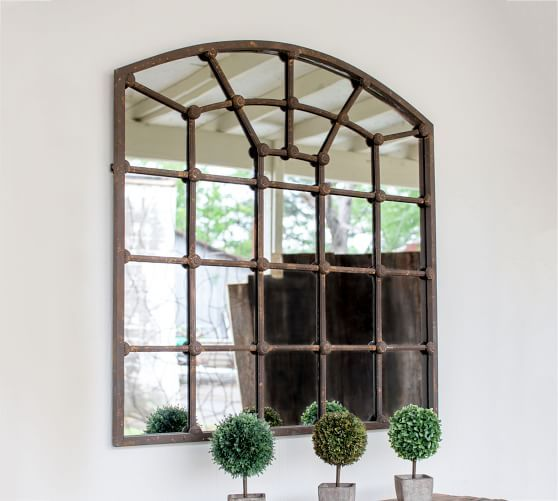 Arched Iron Mirror Pottery Barn Arched Window Mirror Mirror Dining Room Foyer Decorating