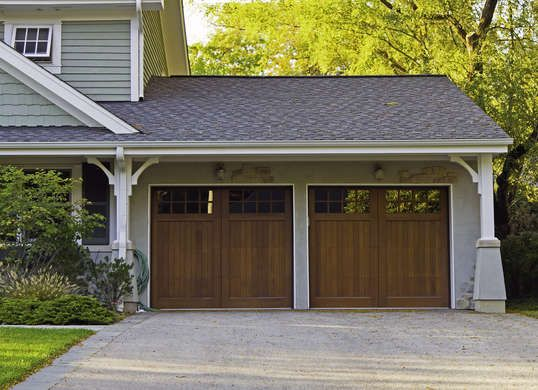 12 Outdoor Upgrades That Make Your Home More Valuable Garage Doors Wooden Garage Doors Wood Garage Doors