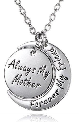 Always My Daughter Forever My Friend Herz Kette Anhänger 925 Sterling Silber