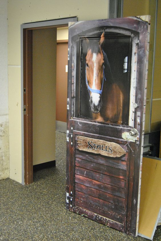 Horse Barn door wrap | Wraps, Bathroom doors and Old fashion