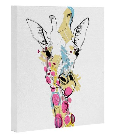 Another great find on #zulily! Casey Rogers Giraffe Color Wrapped Canvas #zulilyfinds