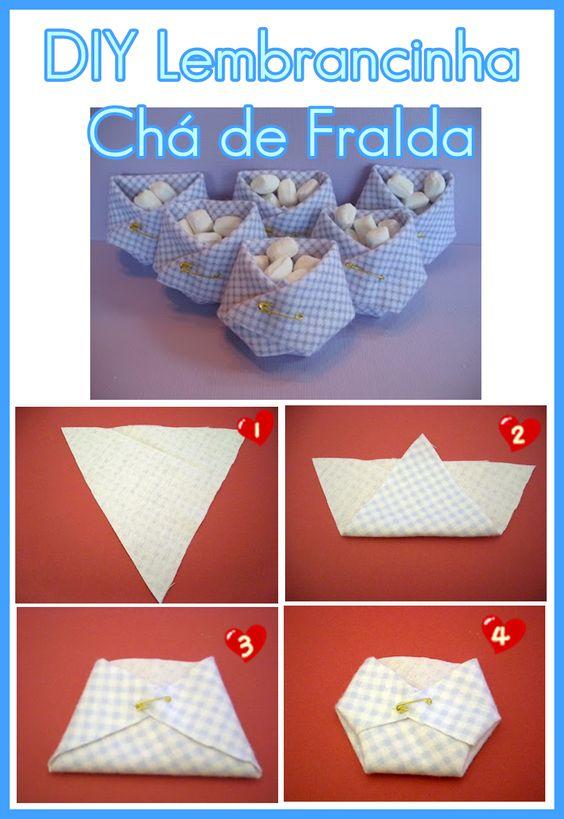 Baby Shower Diaper Souvenir - Lembrança Chá de Fralda: