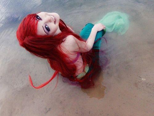 : Halloween Costume, Little Mermaids, Disney Princesses, Costume Ideas, Cosplay Costumes, Mermaid Ariel, Hair Color Ideas