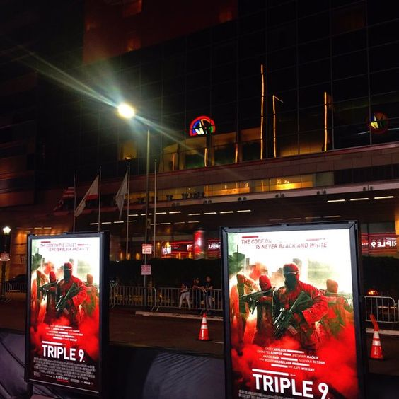 Did you catch our live feed from the premiere of @Triple9Movie?