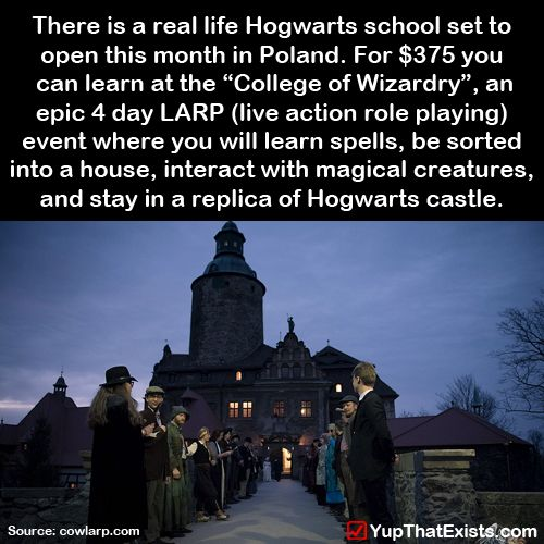 yup-that-exists:  There is a real life Hogwarts opening this month in Poland…