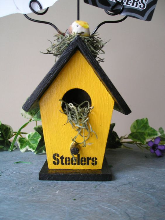 Pittsburgh Steelers Birdhouse Wire Photo by purpleinkgraphics, $12.50