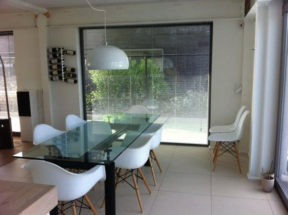 Charles Eames DAW Chairs And Le Corbusier LC6 Table