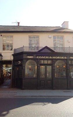 The Coach & Horses pub in Barnes. A proper old English pub :-)