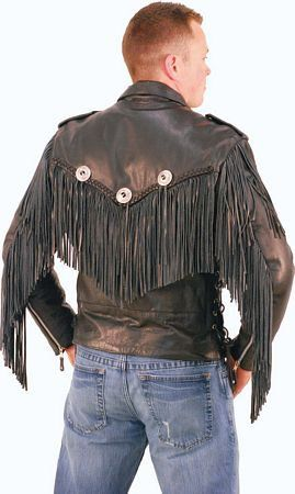 beltless fringed leather motorcycle jacket from jamin leather