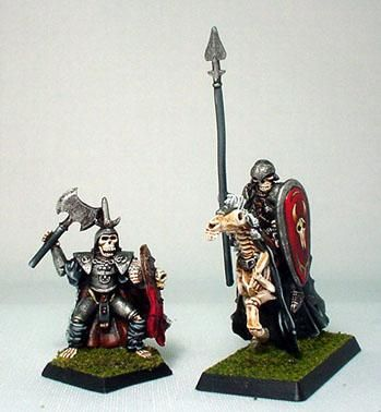 Bone Warriors: Berserkers Mounted and Dismounted (2)  by RAFM Miniatures