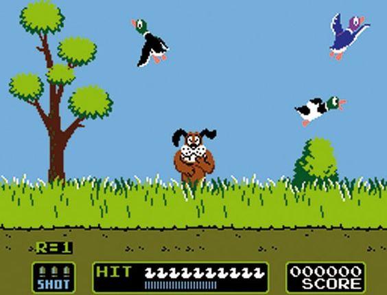 Duck Hunt Game... was soo fun! ...sadly, haha...