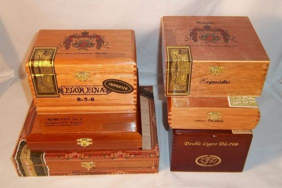 Wooden Cigar Boxes - Lot of 6 Premium - My Father's Cigars / Flor Fina / Ashton #vintagephilly