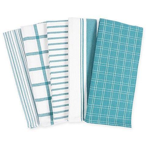 Kaf Home Kitchen Towels Set Of 5 Bed Bath Beyond Decorative Kitchen Towels Kitchen Towels Teal Kitchen Decor