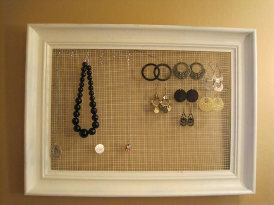 Good way to display dangly jewelry!