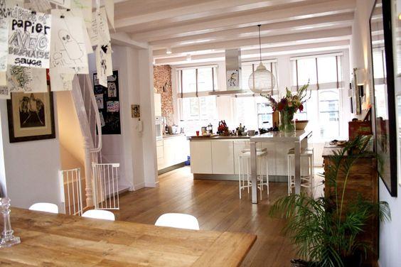Maria & Eric Criativo, confortável casa em Amsterdam House Tour   Apartment Therapy
