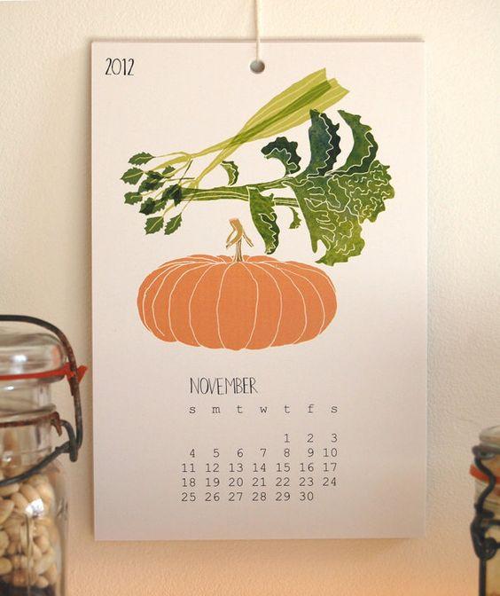 2012 Buy Local Calendar. via Etsy.